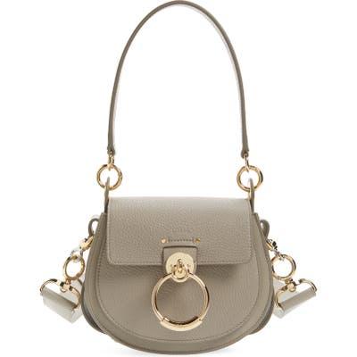 Chloe Medium Tess Lambskin Leather Shoulder Bag - Grey