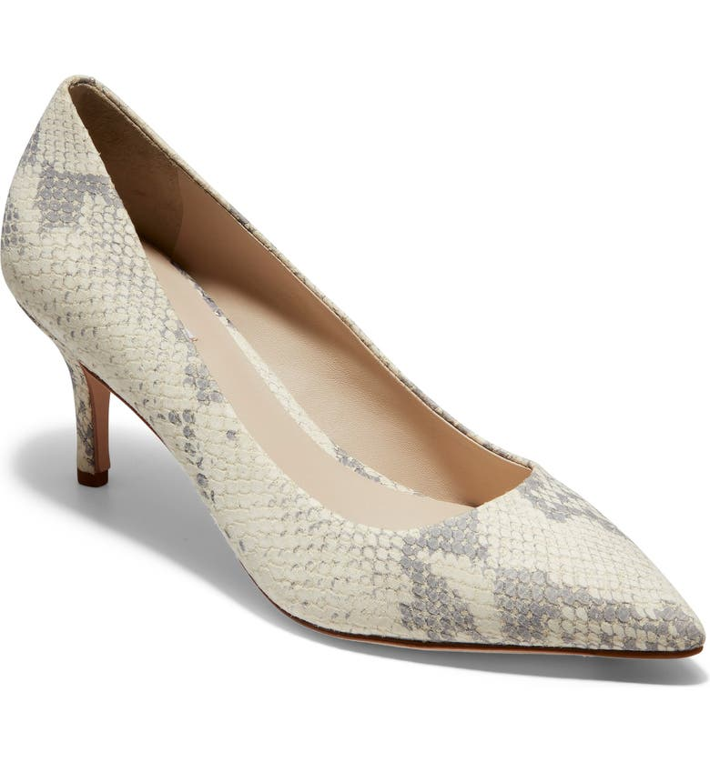 COLE HAAN Vesta Pointy Toe Pump, Main, color, IVORY ROCCIA PRINT LEATHER