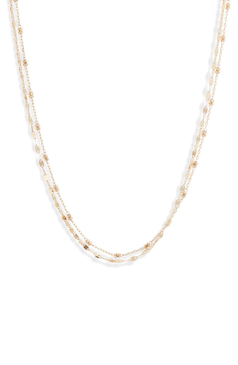 POPPY FINCH Shimmer Layered Necklace, Main, color, YELLOW GOLD