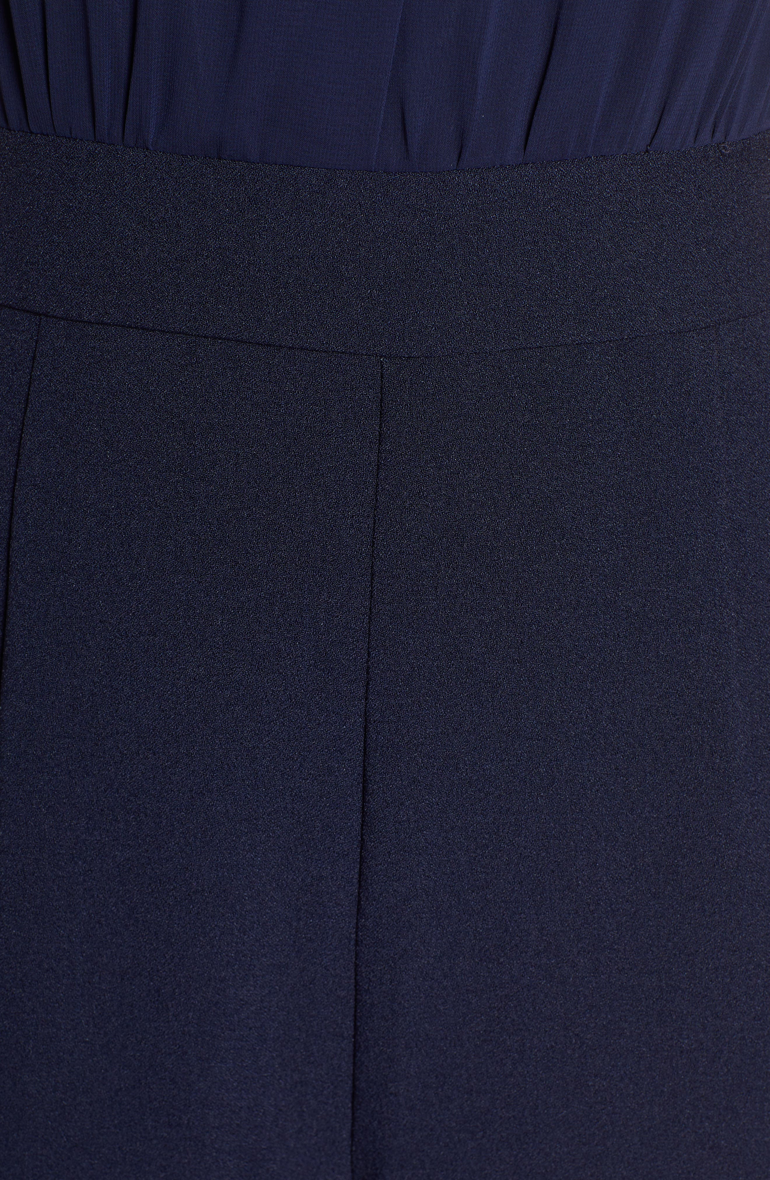 ,                             Crepe Jumpsuit,                             Alternate thumbnail 6, color,                             NAVY