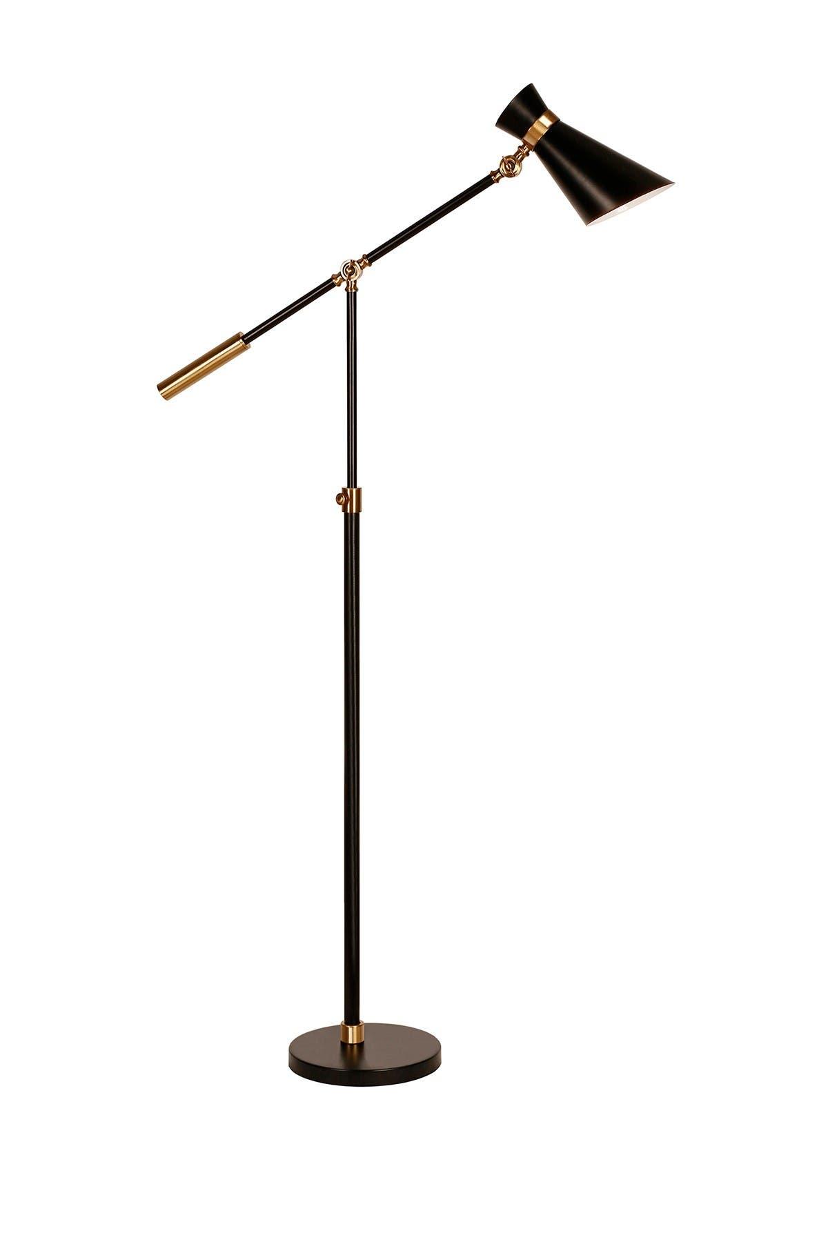 Image of Addison and Lane Rex Floor Lamp     Black/Brass