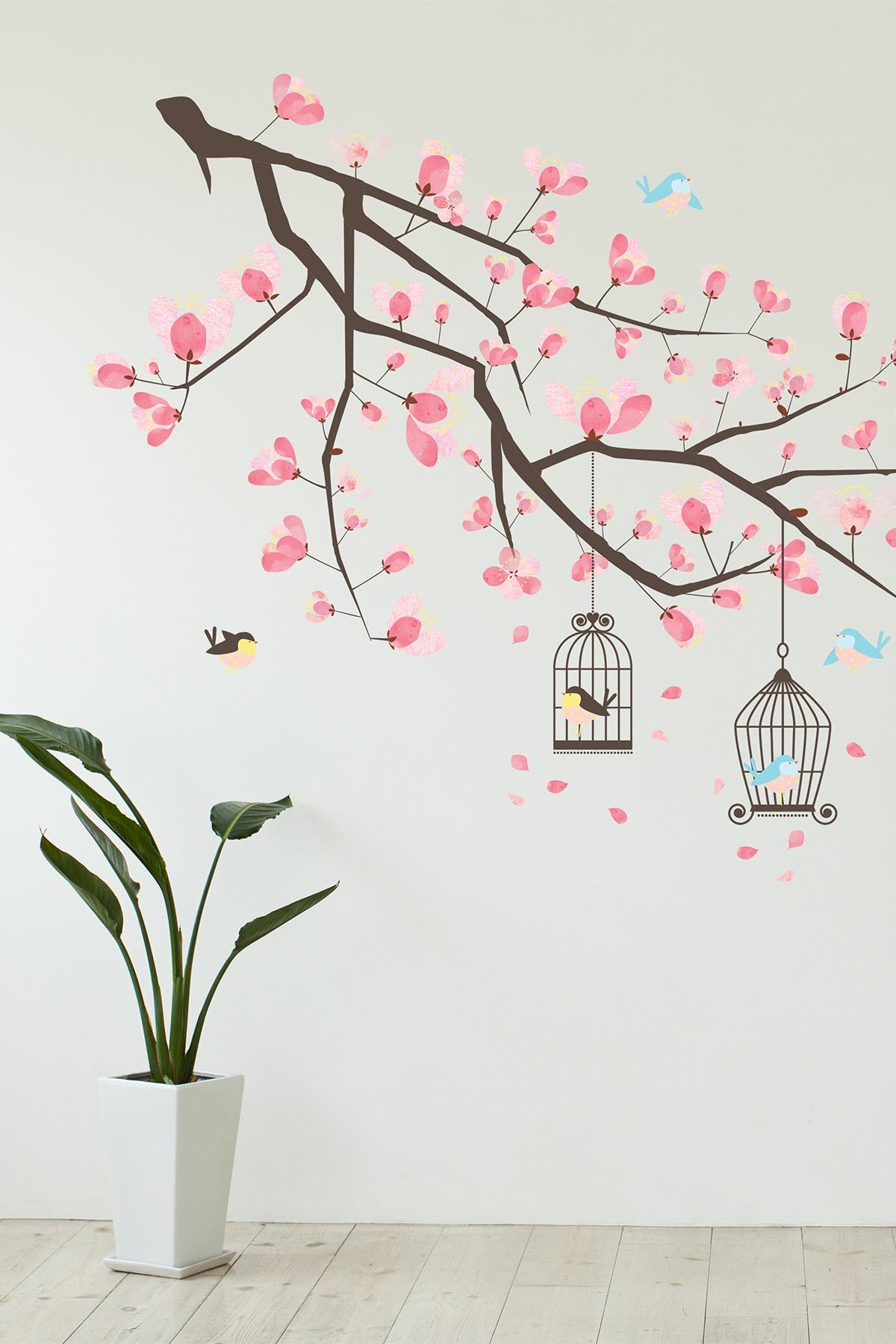 Image of WalPlus Branche Cherry Blossom Wall Decal