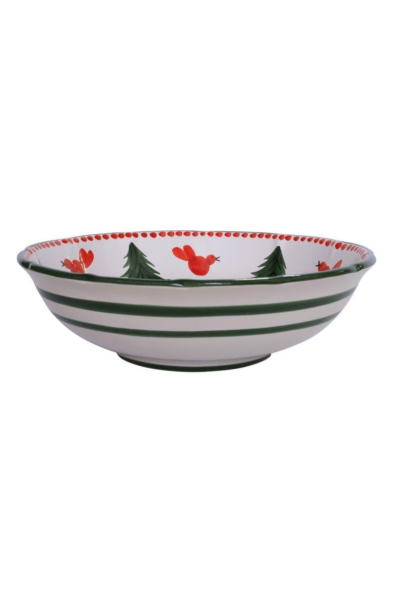 VIETRI Large Uccello Rosso Stoneware Serving Bowl, Main, color, MULTI