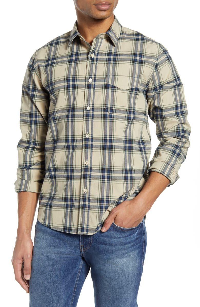FRAME Classic Fit Plaid Button-Up Shirt, Main, color, 100