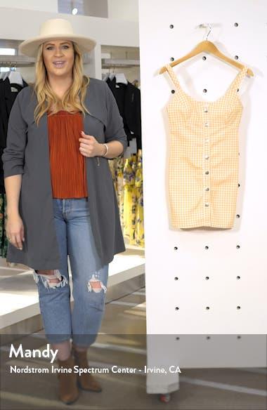 Gingham Sleeveless Denim Minidress, sales video thumbnail