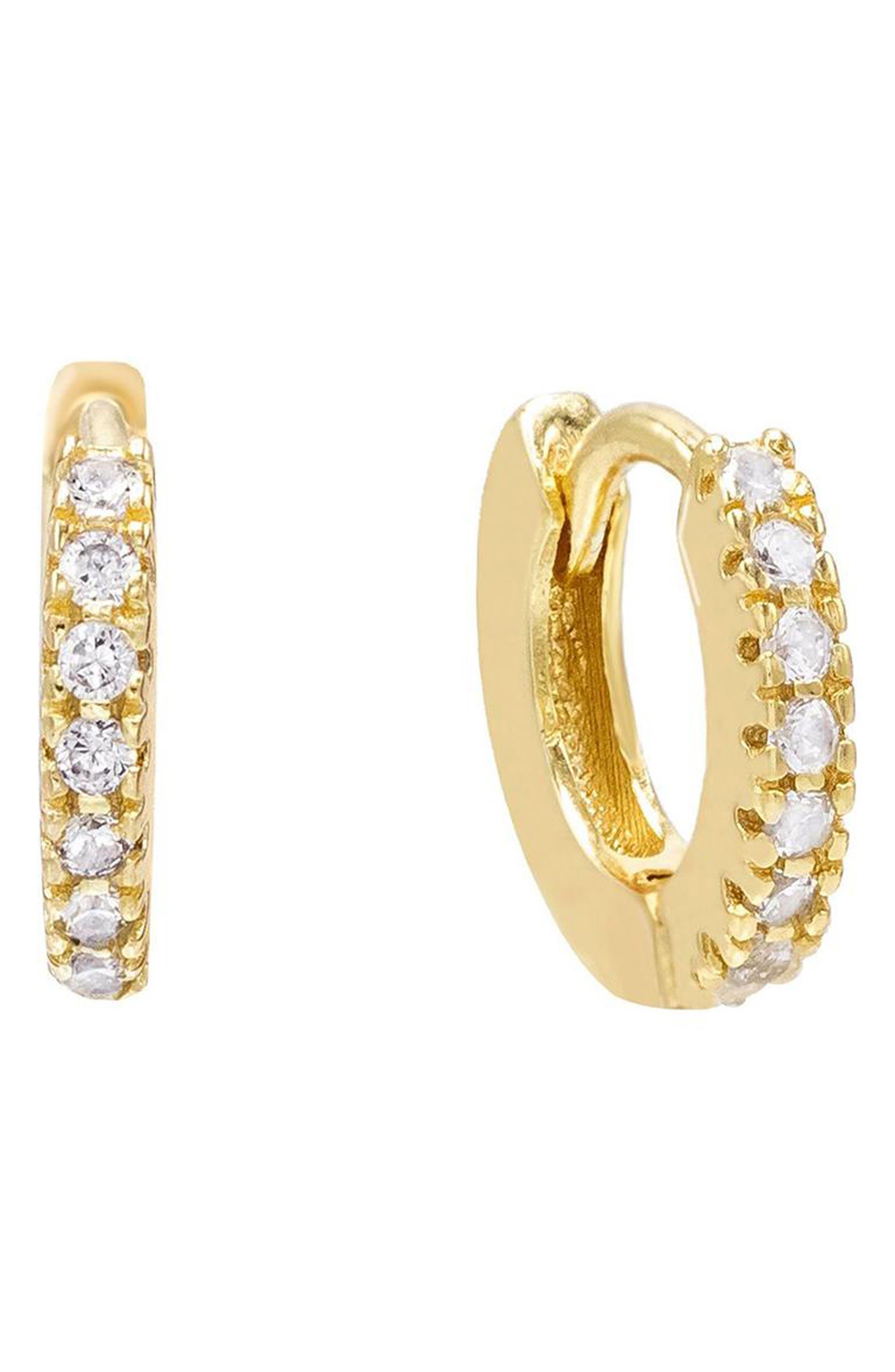 Women's Adina's Jewels Mini Huggie Hoop Earrings