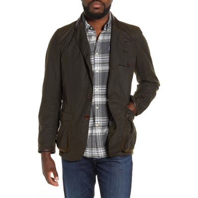Barbour Icons Beacon Sports Waxed Cotton Jacket, Green