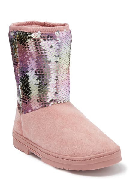 Image of bebe Microsuede Sequin Faux Fur Lined Winter Boot