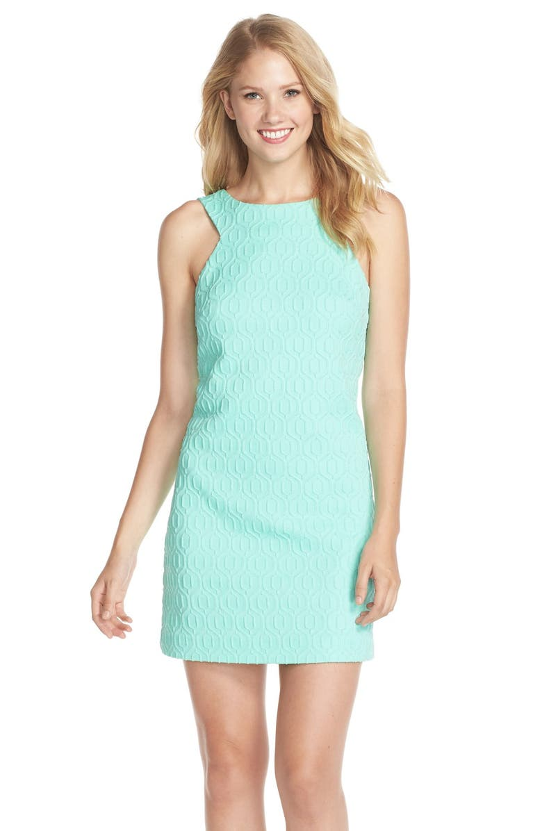 3b1062ed0bca7d Lilly Pulitzer® 'Mango' Metallic Jacquard Shift Dress | Nordstrom