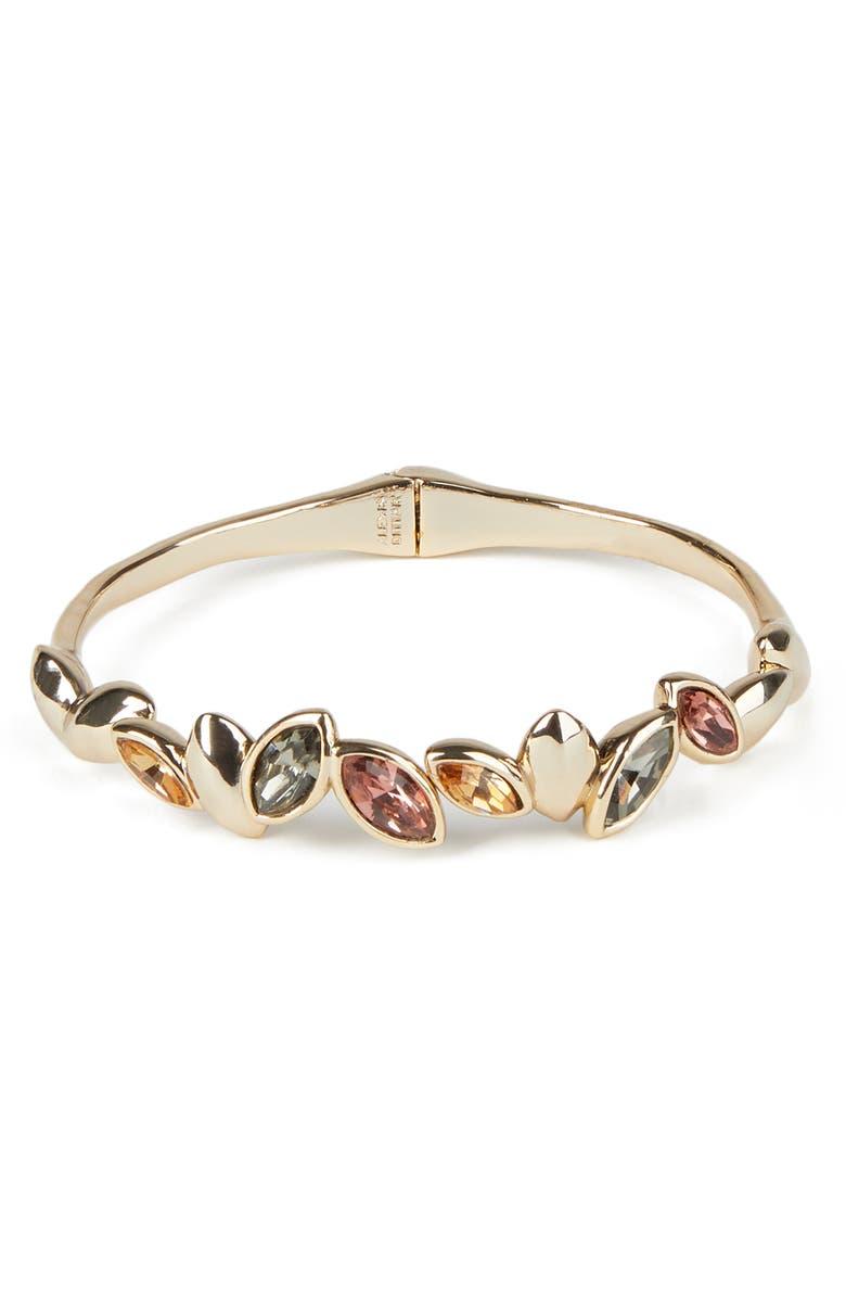 ALEXIS BITTAR Navette Crystal Break Hinge Bracelet, Main, color, GOLD