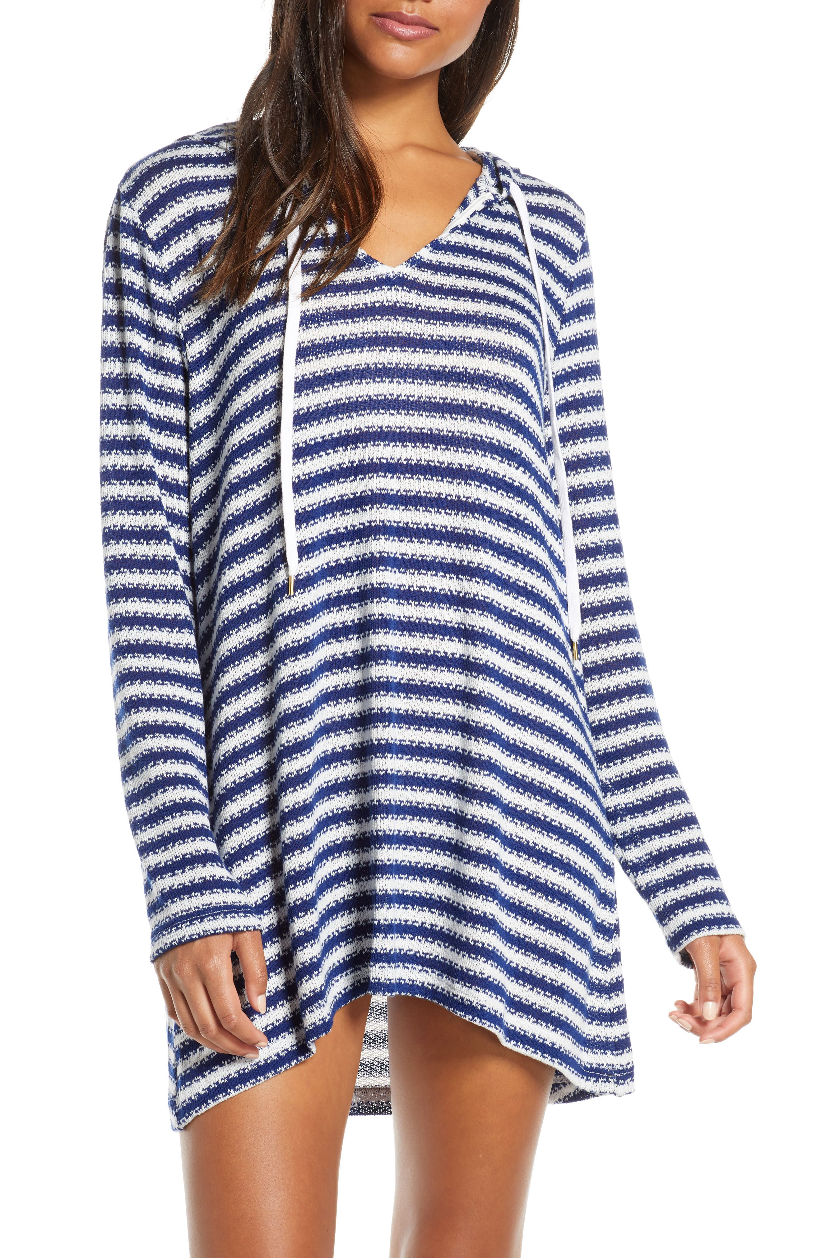 La Blanca Slouchy Hooded Sweater Cover-Up Tunic (Nordstrom Exclusive)