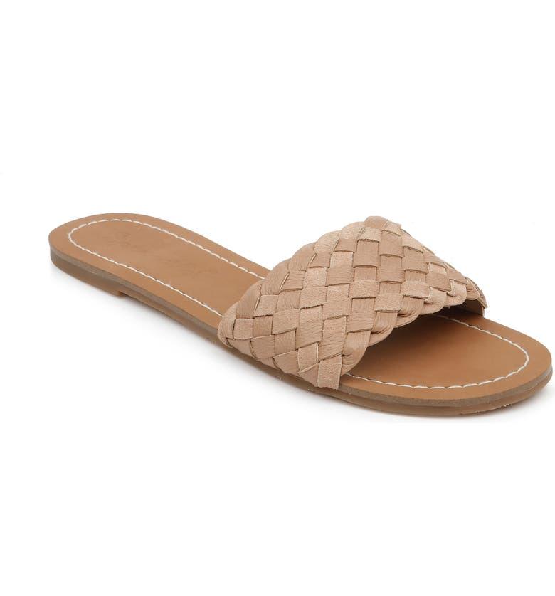 SPLENDID Maegan Slide Sandal, Main, color, WARM NUDE LEATHER