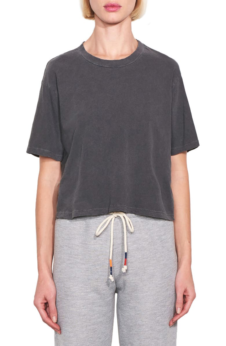 SUNDRY Boxy Tee, Main, color, PIGMENT CHARCOAL
