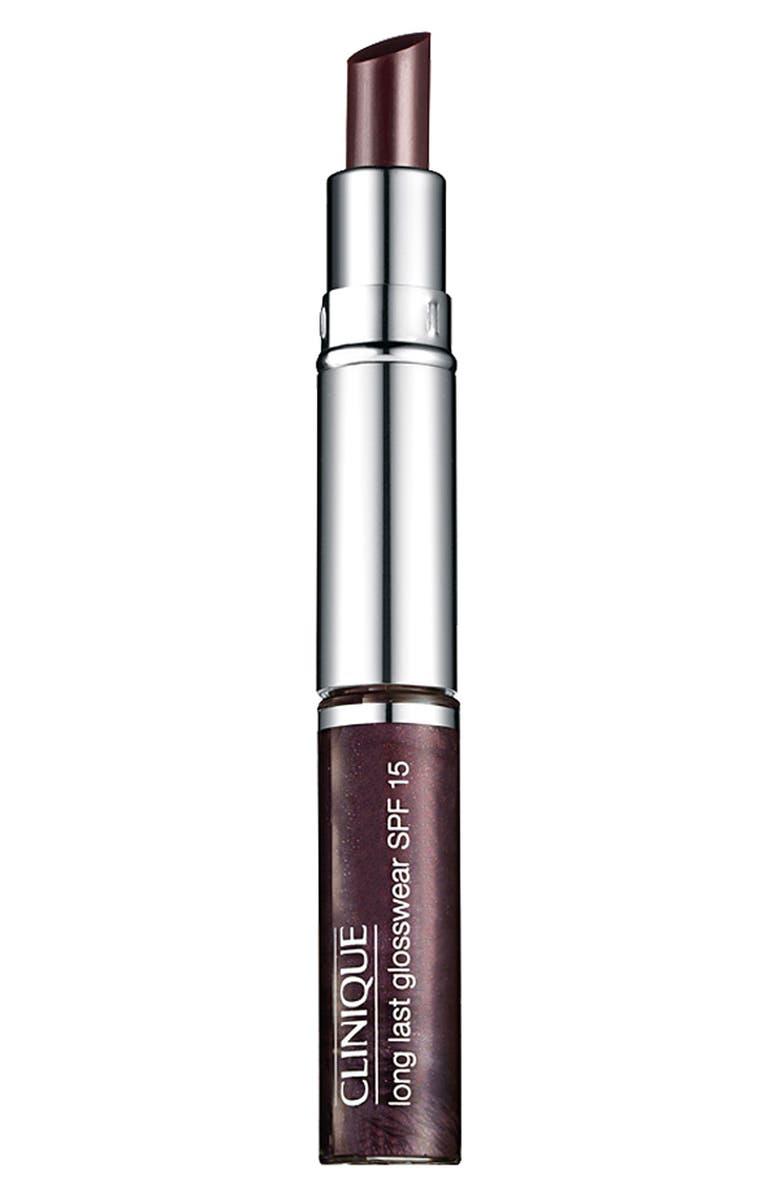 CLINIQUE 'Black Honey' Dual Ended Almost Lipstick & Long Last Glosswear SPF 15, Main, color, BLACK HONEY