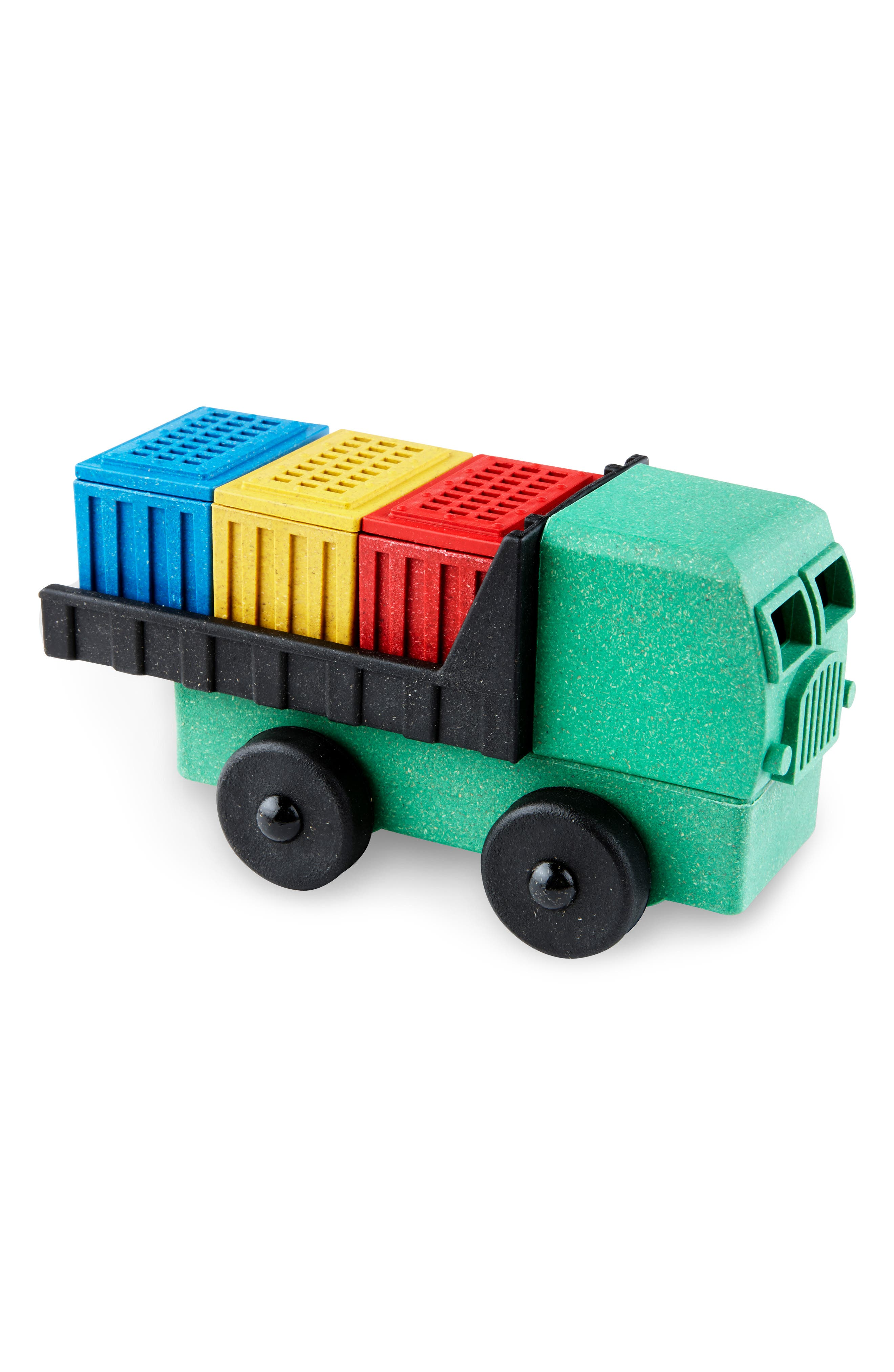 Boys Lukes Toy Factory Educational 9Piece Puzzle Cargo Truck Toy
