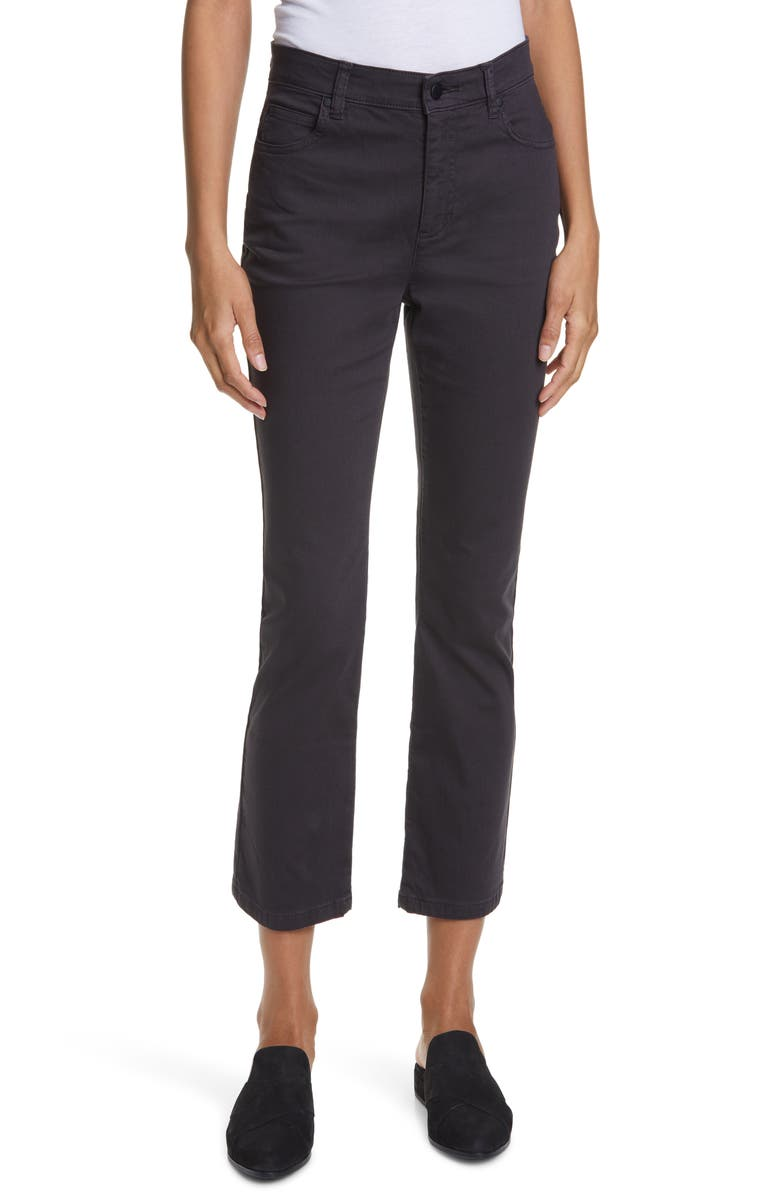 EILEEN FISHER Slim Crop Jeans, Main, color, 001