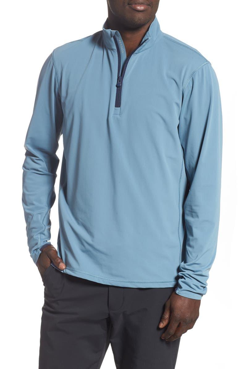 GREYSON Tate Quarter Zip Pullover, Main, color, DIVER