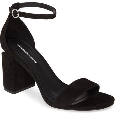 Alexander Wang New Abby Ankle Strap Sandal, Black