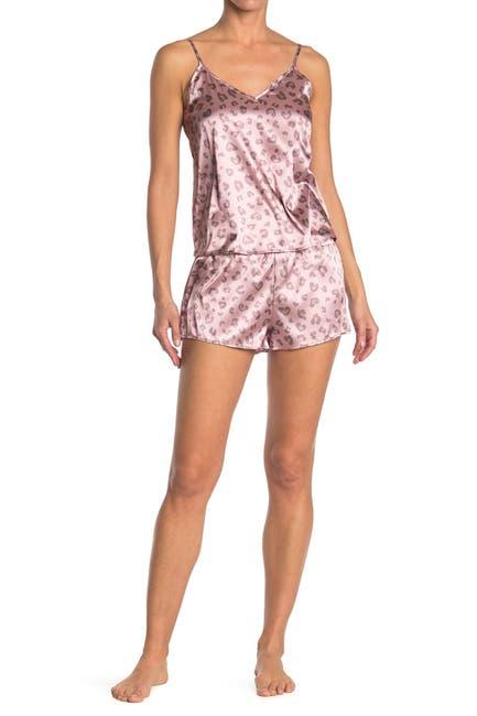 Image of COZY ROZY Morgan Satin Cami & Shorts 2-Piece Pajama Set