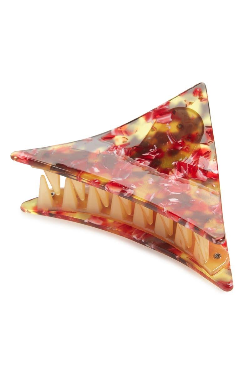 TASHA Triangle Jaw Clip, Main, color, PINK MULTI