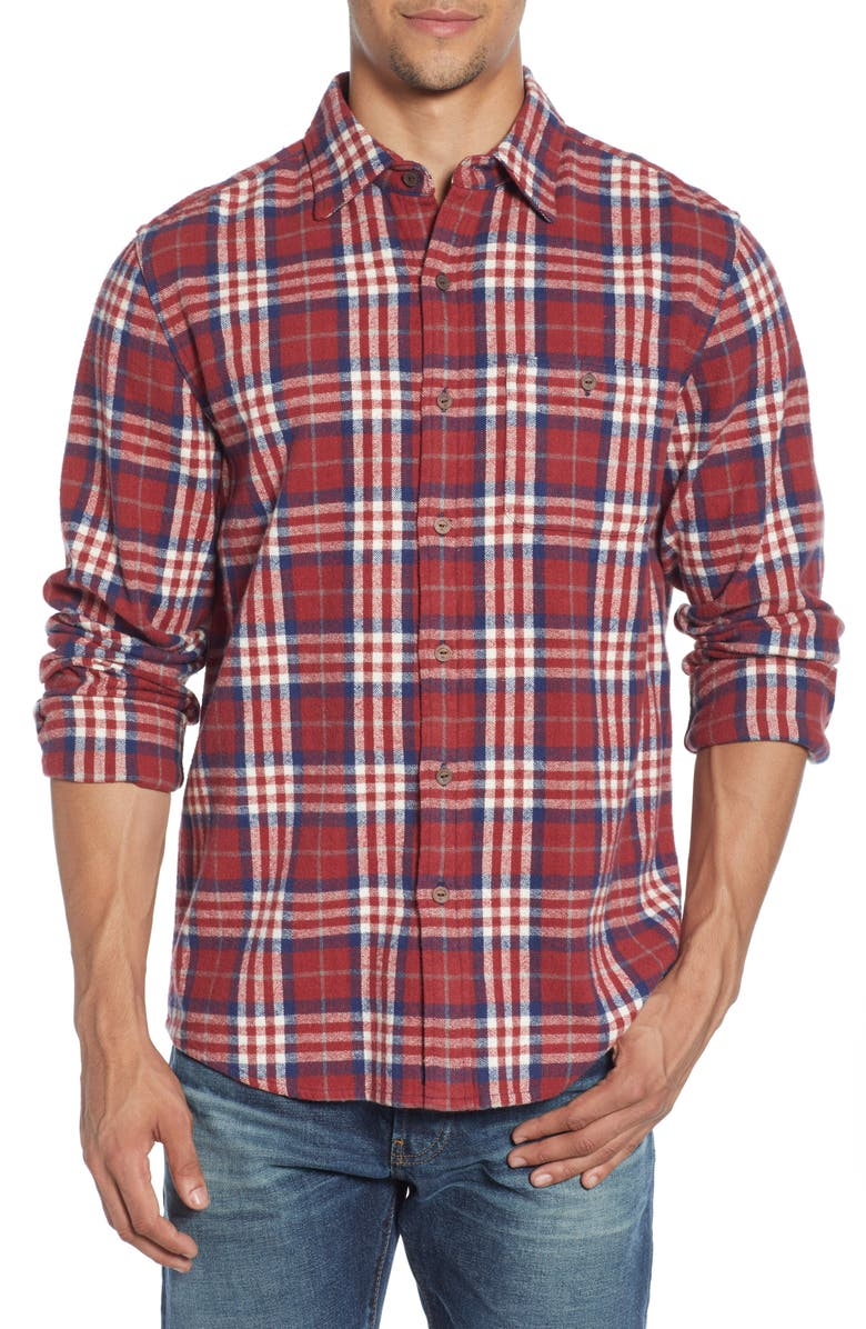 THE NORMAL BRAND Boone Regular Fit Flannel Button-Up Shirt, Main, color, 600