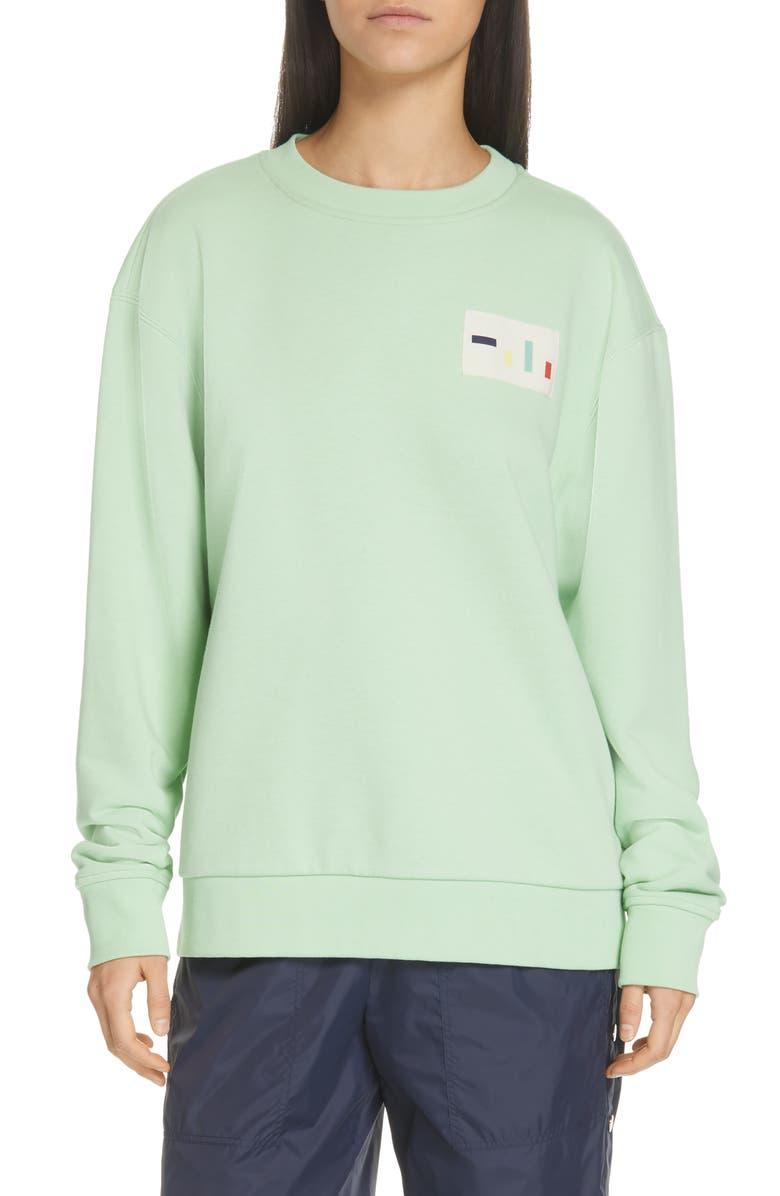 TIBI Lightweight Logo Sweatshirt, Main, color, 332