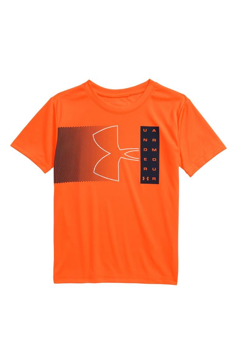 UNDER ARMOUR HeatGear<sup>®</sup> UA Fade Graphic Tee, Main, color, ORANGE SPARK