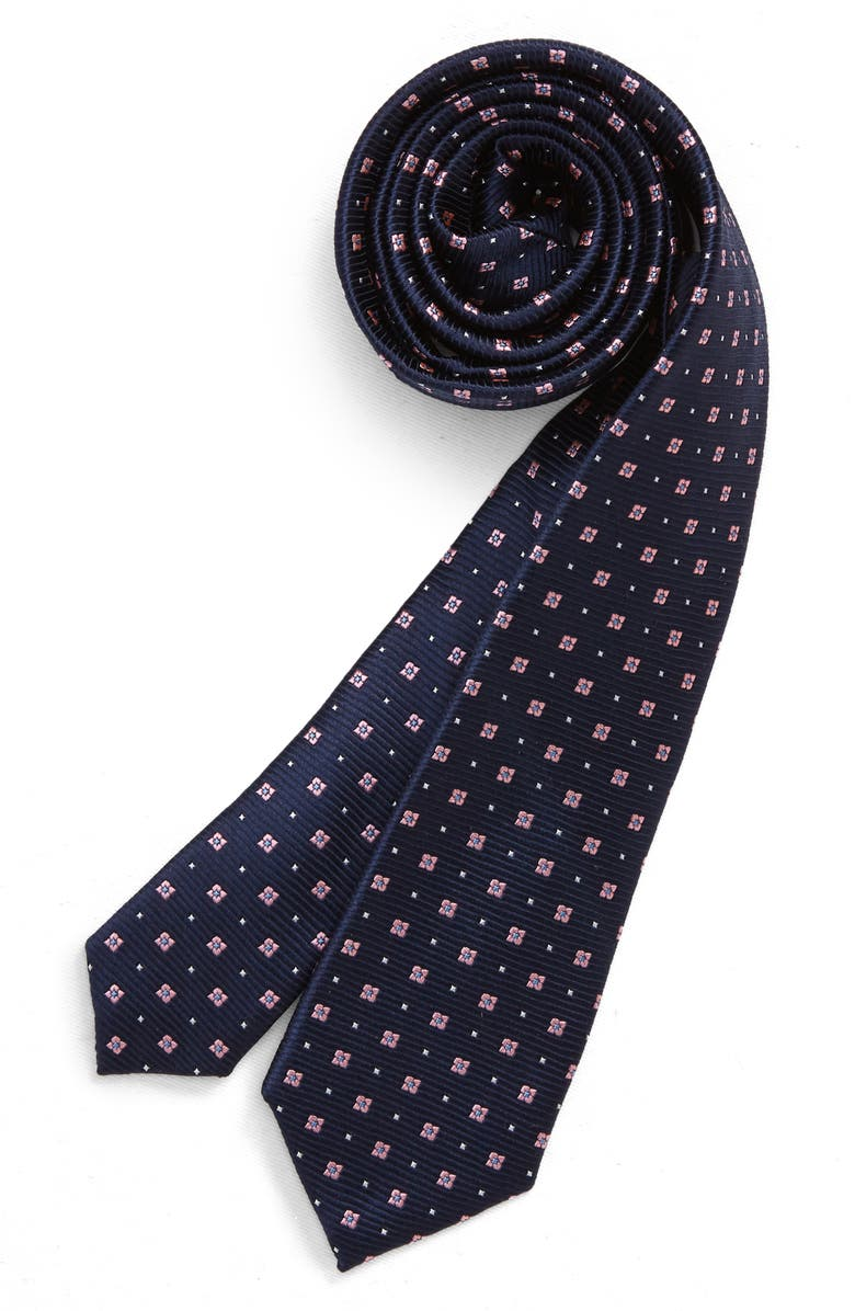NORDSTROM Charlie Neat Silk Tie, Main, color, 450