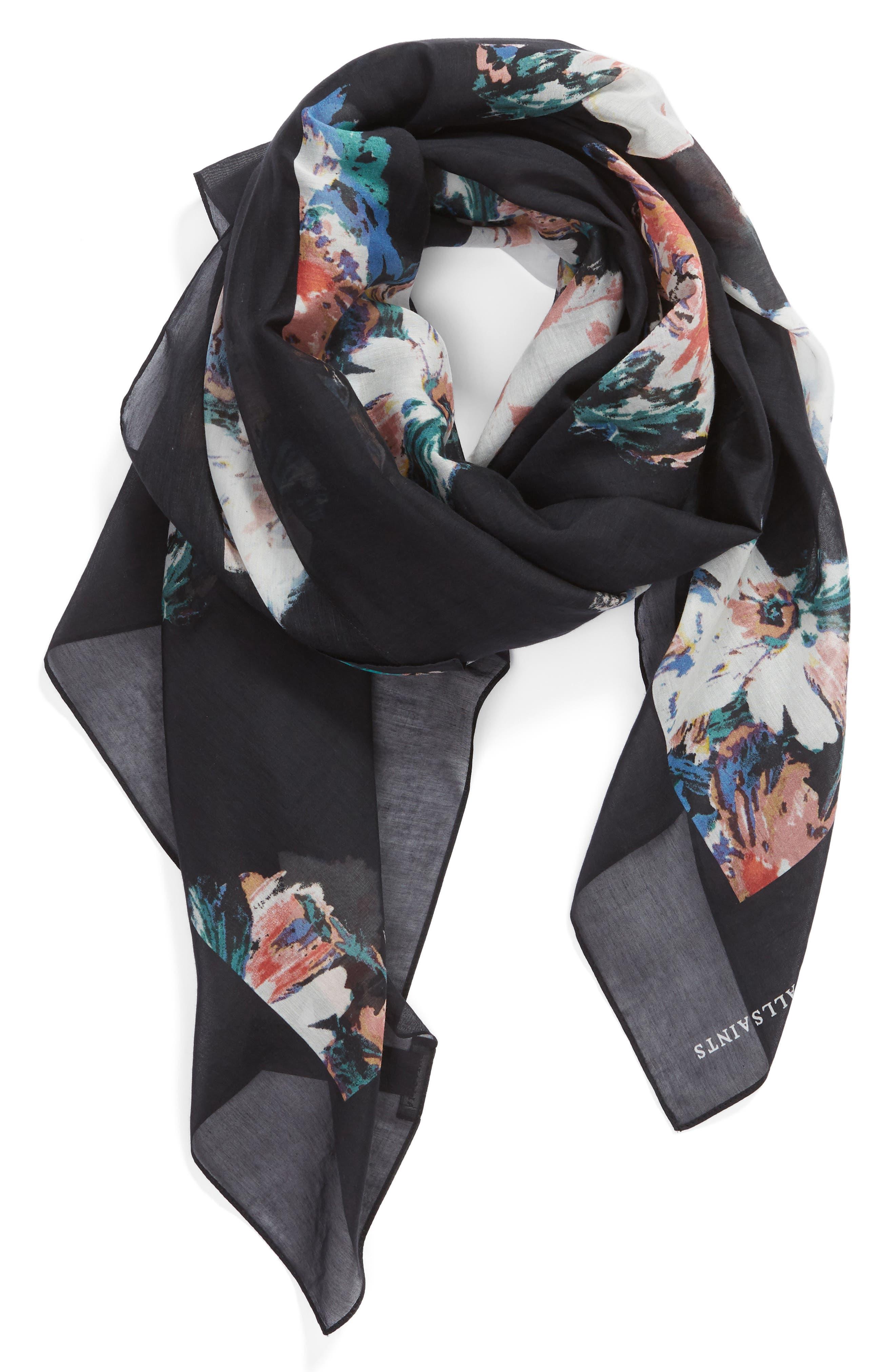 ,                             Violy Cotton & Silk Pareo,                             Alternate thumbnail 2, color,                             BLACK