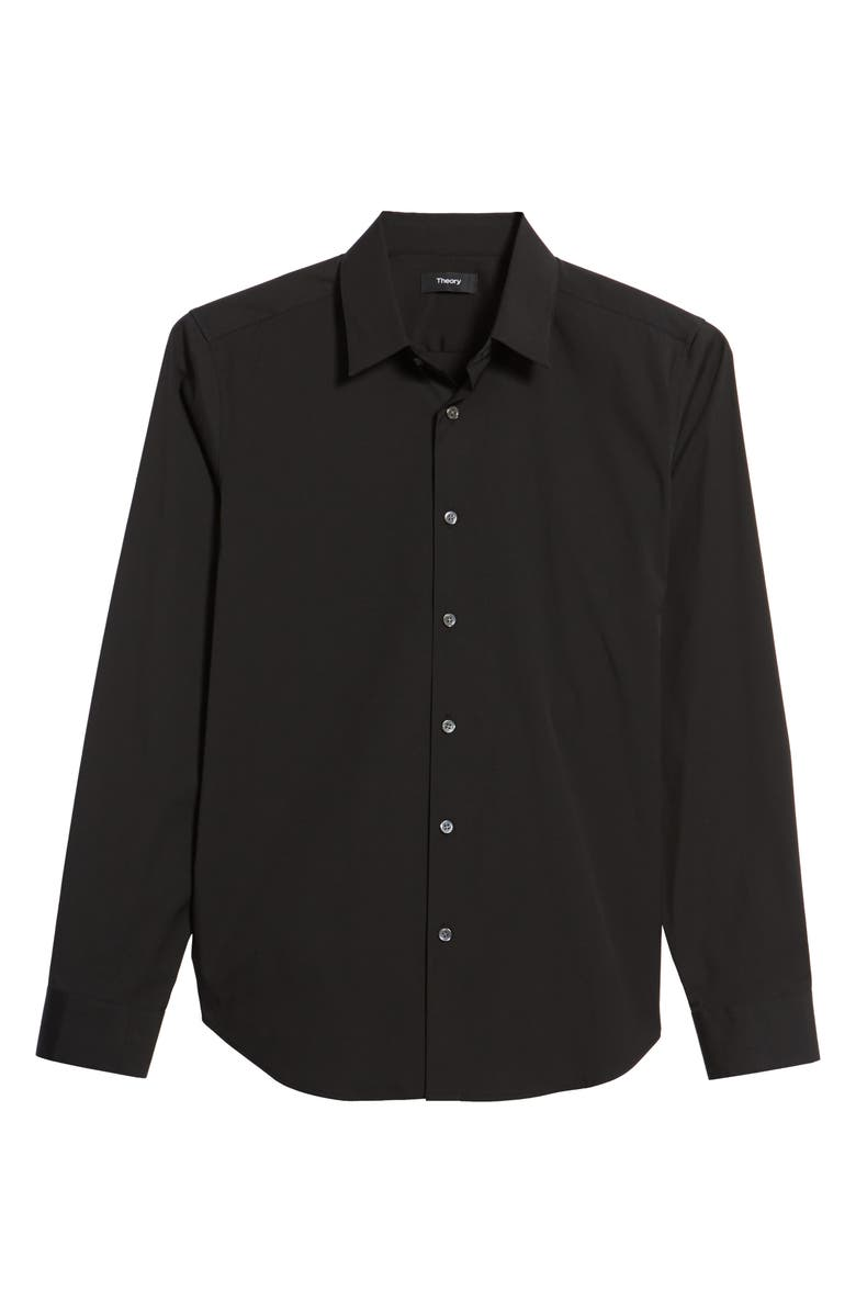THEORY Sylvain Slim Fit Button-Up Dress Shirt, Main, color, BLACK