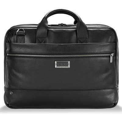 Briggs & Riley Medium Rfid Pocket Leather Briefcase -