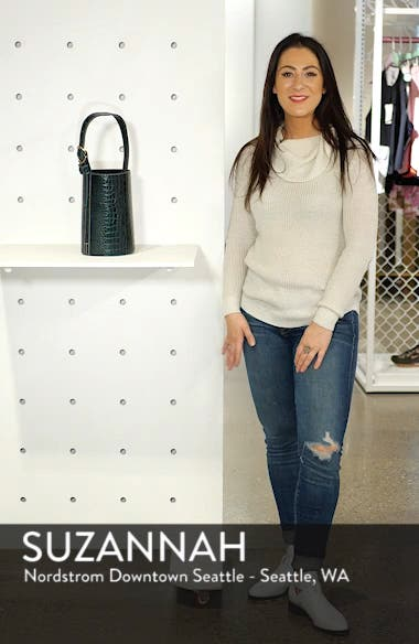 Small Leather Bucket Bag, sales video thumbnail