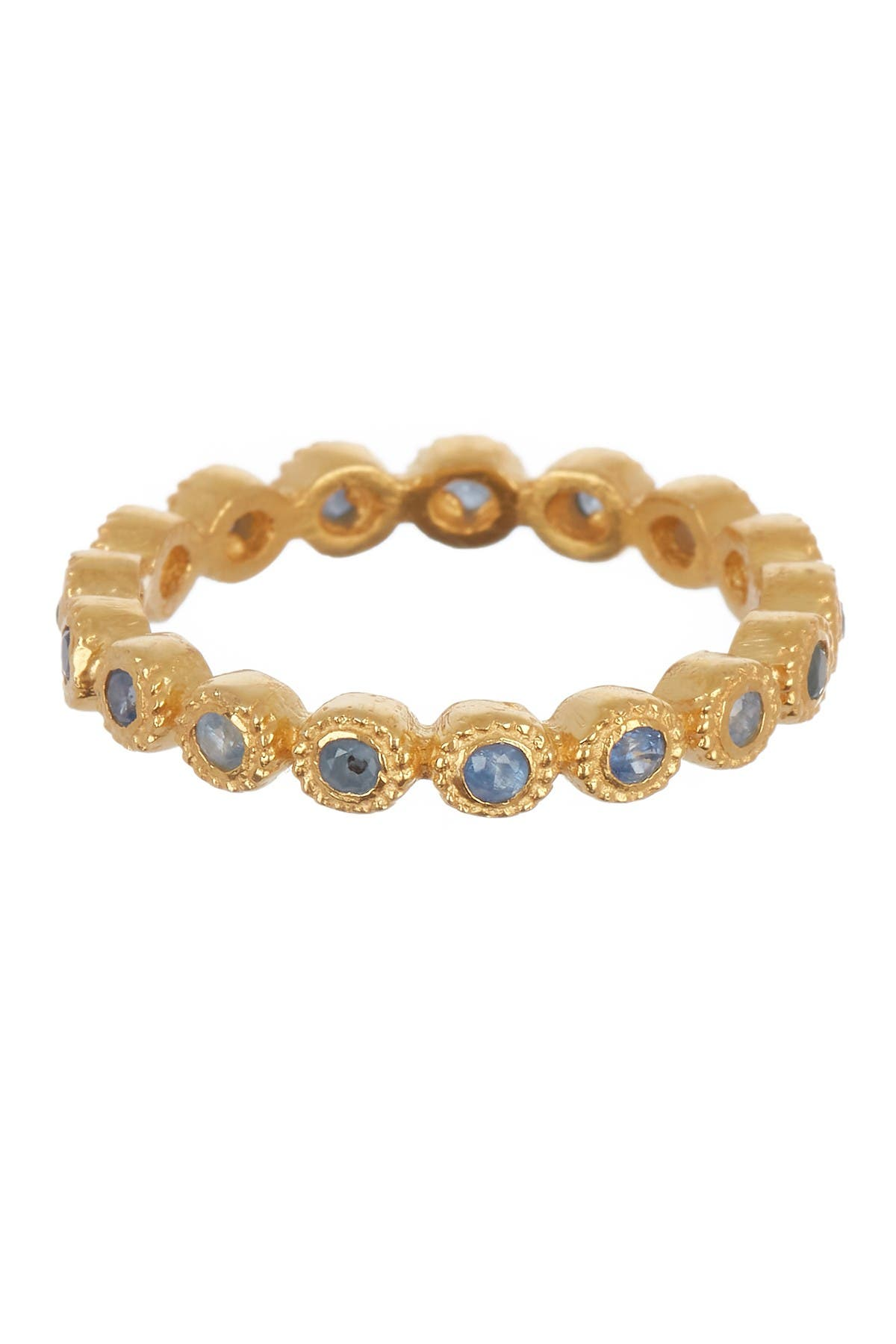 Image of Forever Creations USA Inc. Gold Vermeil Sterling Silver Blue Sapphire Stackable Ring