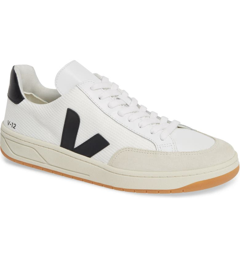 VEJA V-12 Sneaker, Main, color, WHITE BLACK
