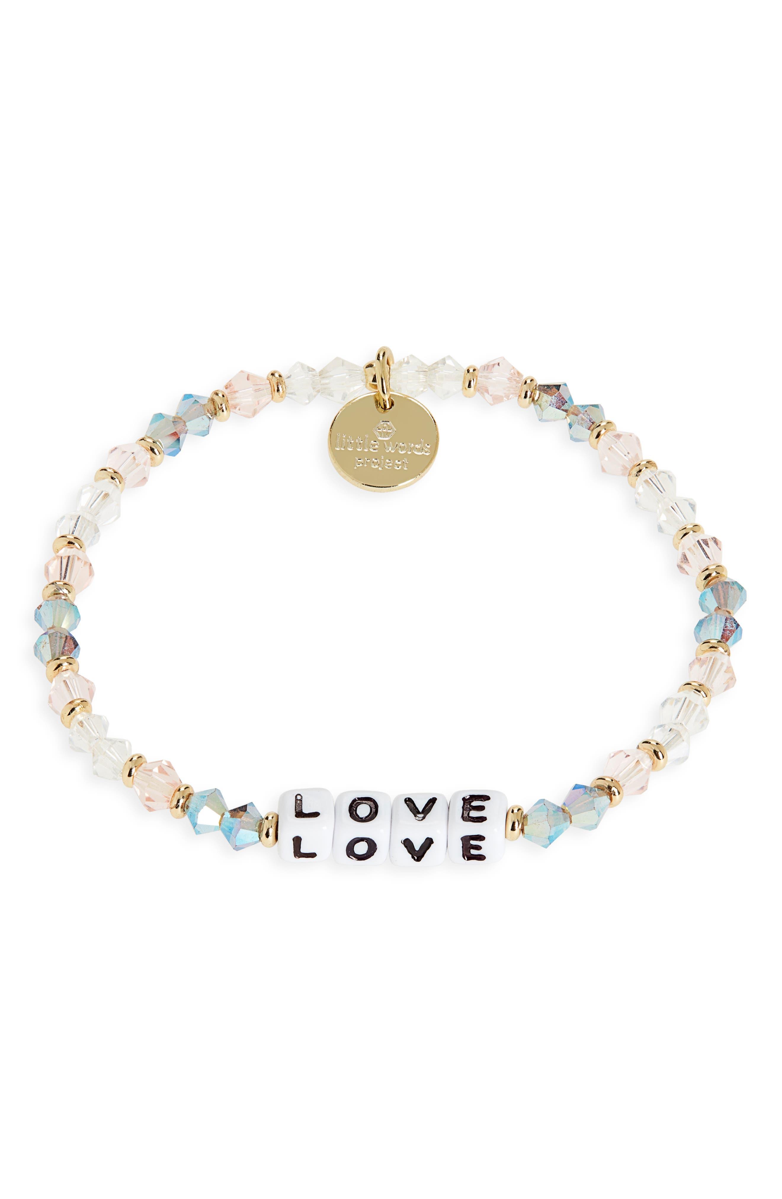 Love Beaded Stretch Bracelet