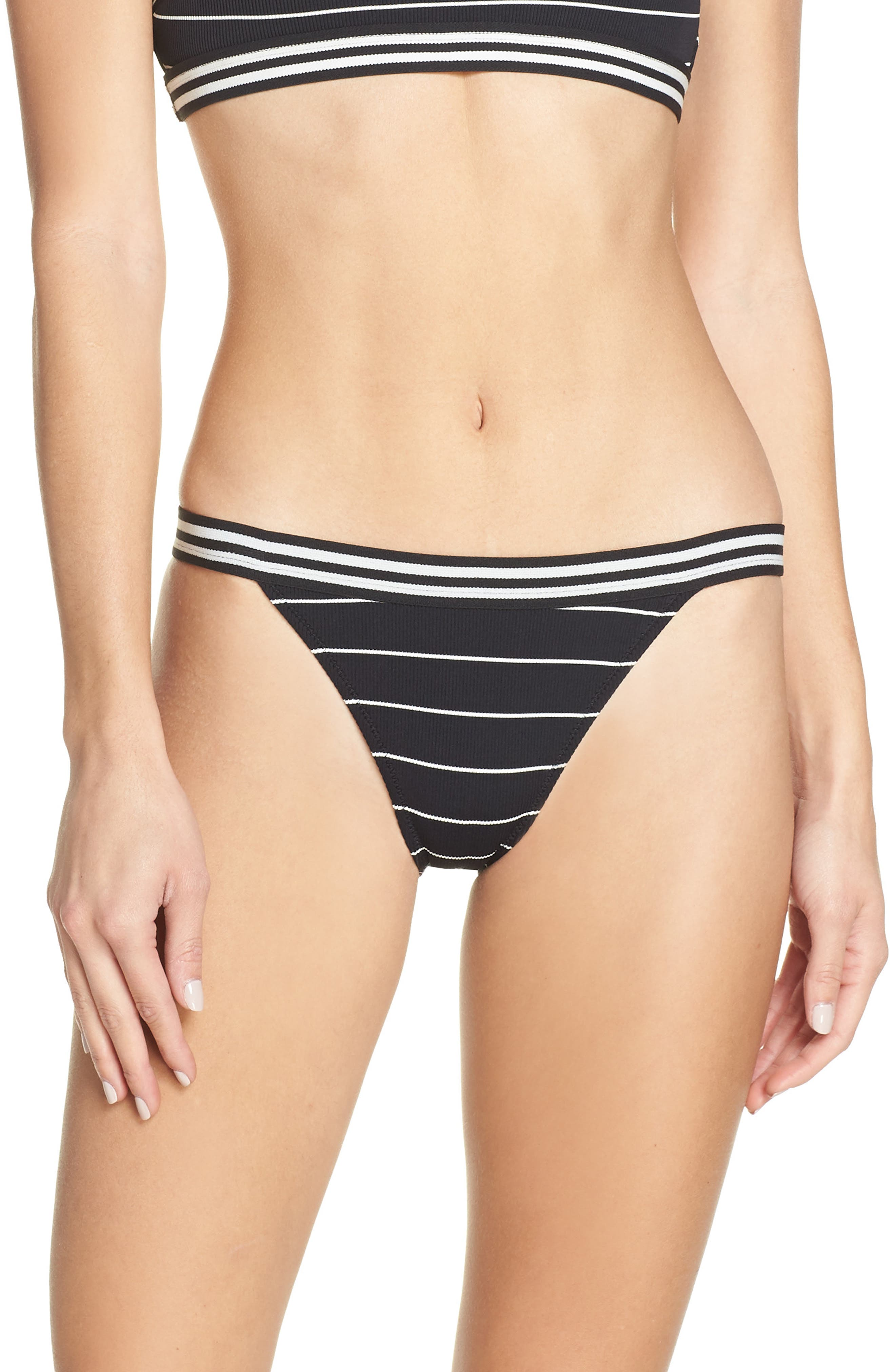 Solid & Striped The Stacey Bikini Bottoms, Black