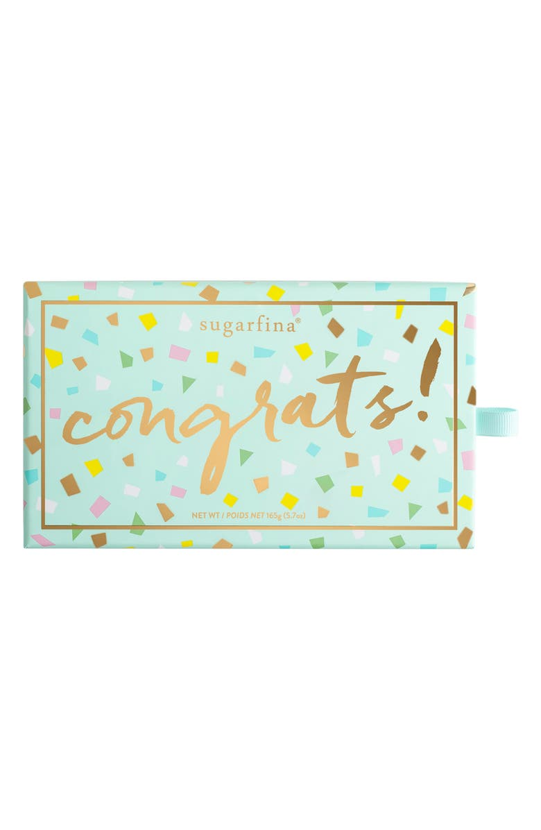 SUGARFINA Congrats 2-Piece Candy Bento Box, Main, color, BLUE