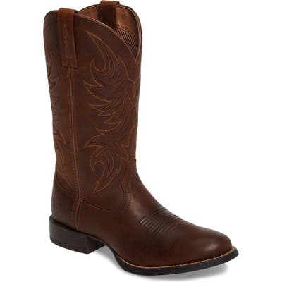 Ariat Sport Horsemen Cowboy Boot- Brown
