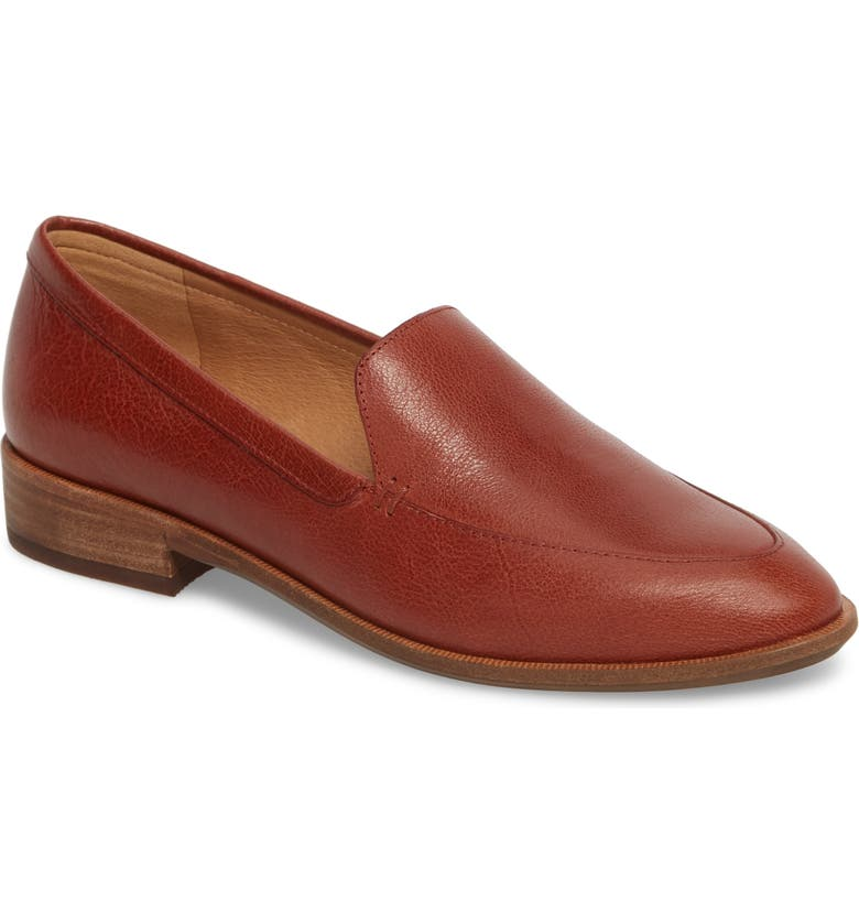 MADEWELL The Frances Loafer, Main, color, BURNISHED MAHOGANY LEATHER