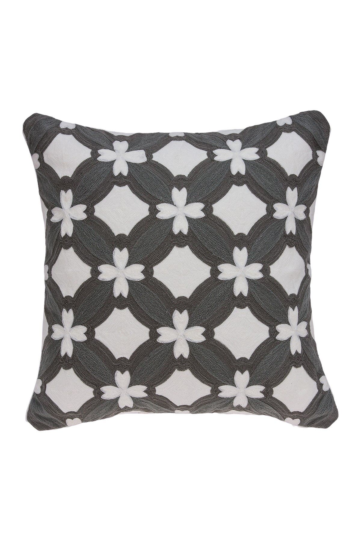 """Image of Parkland Collection Noma Transitional Pillow - 20"""" x 20"""" - Grey"""