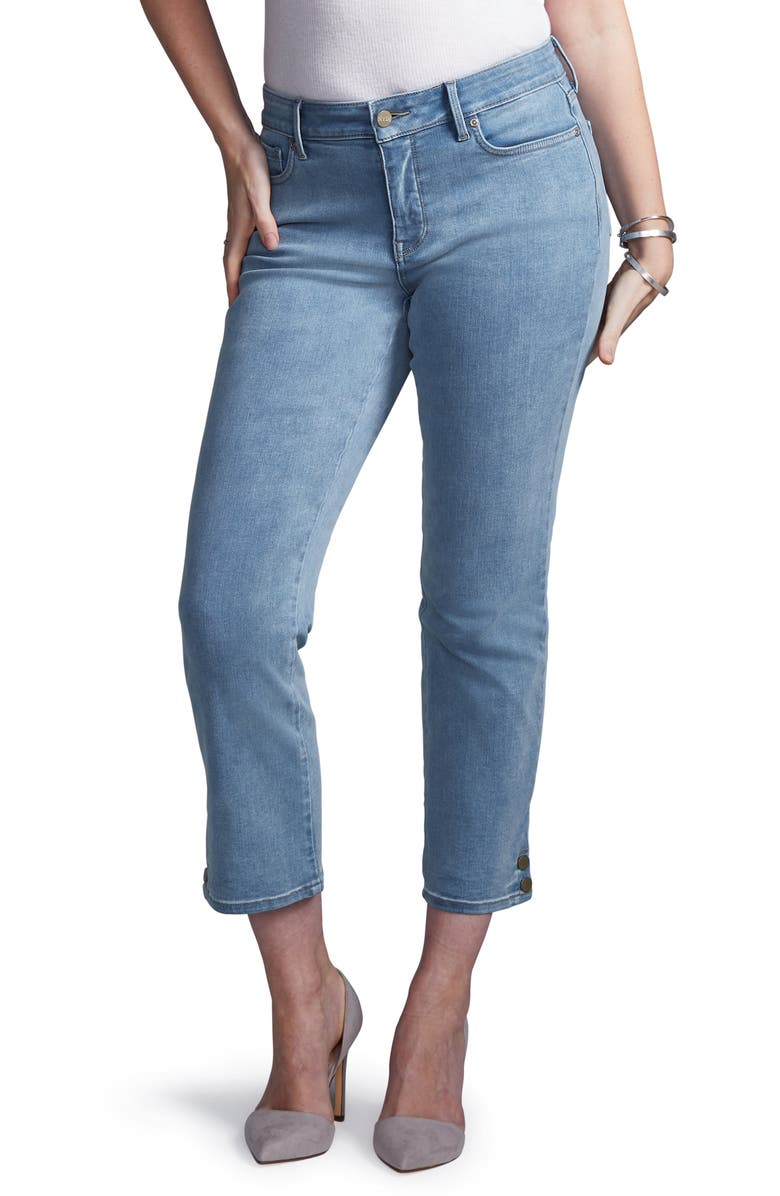 CURVES 360 BY NYDJ Snap Detail Straight Leg Ankle Jeans, Main, color, REVERIE