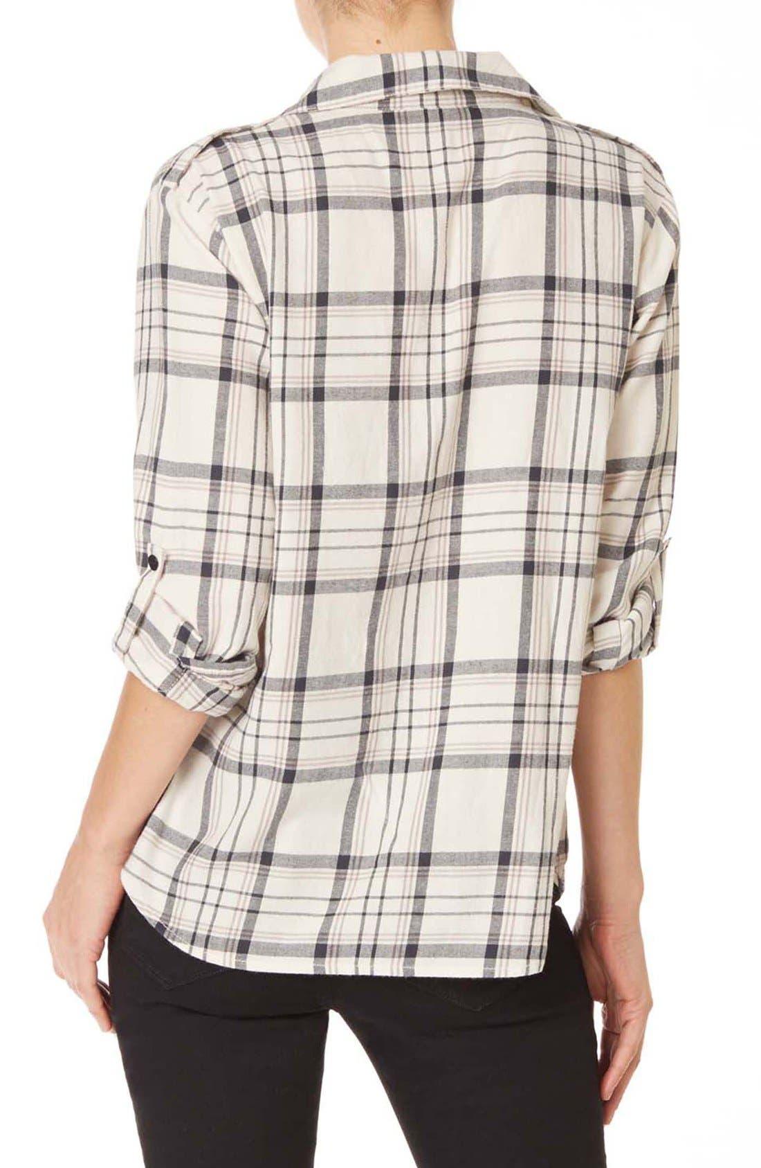 ,                             Plaid Flannel Boyfriend Shirt,                             Alternate thumbnail 6, color,                             196