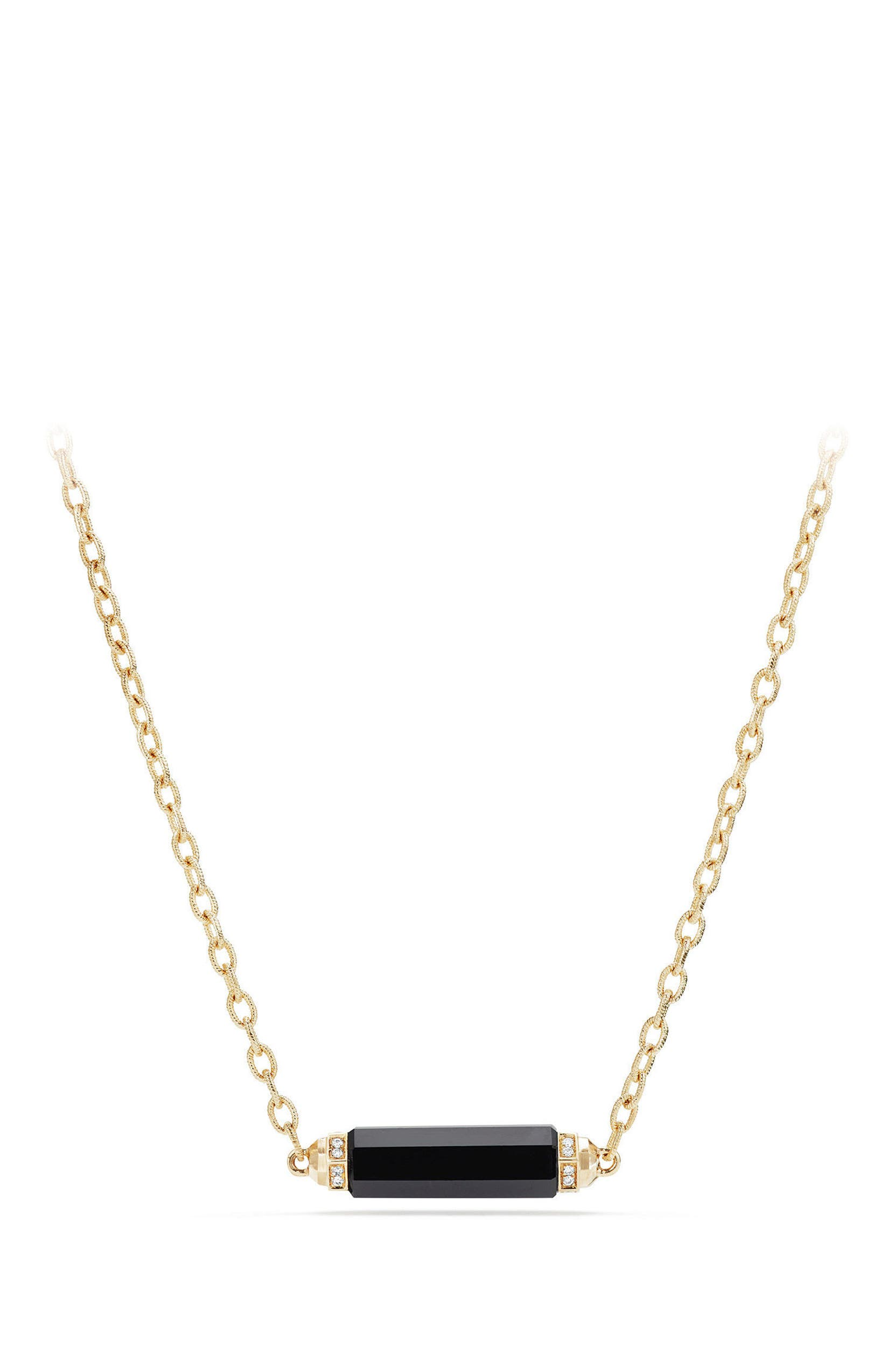 2ddb351fdaa01 David Yurman Barrels Single Station Necklace with Diamonds in 18K ...
