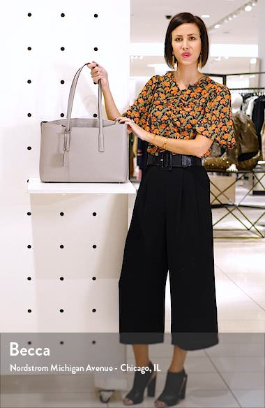 margaux large leather work tote, sales video thumbnail