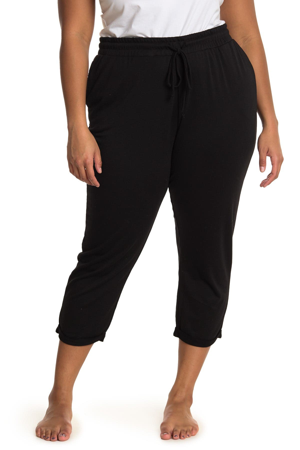Image of Bobeau High Waisted Crop Lounge Pants