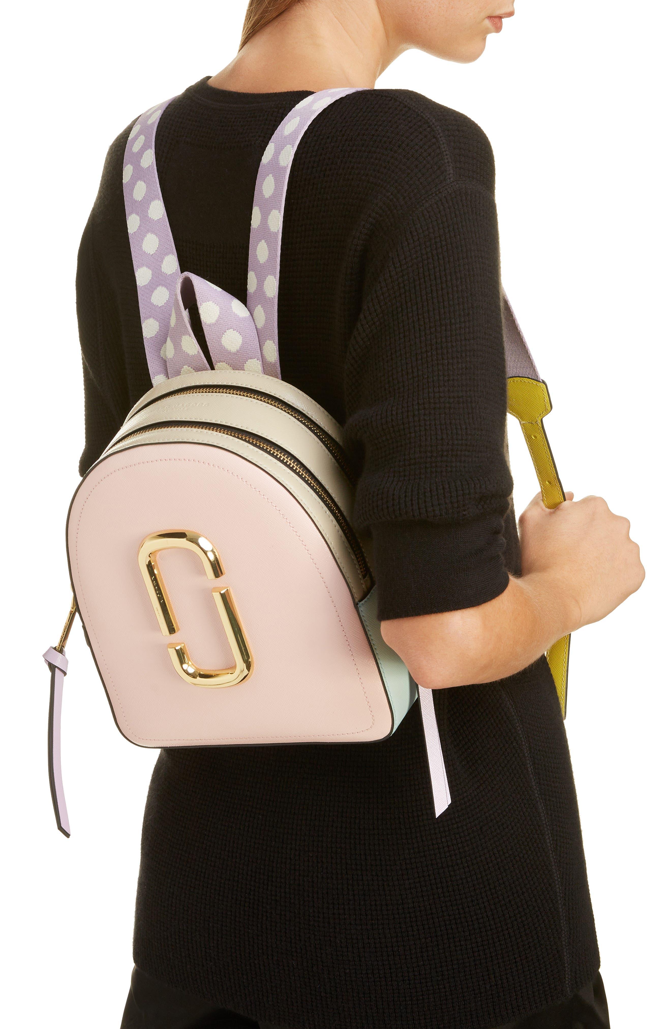 ,                             Pack Shot Leather Backpack,                             Alternate thumbnail 2, color,                             BLUSH MULTI
