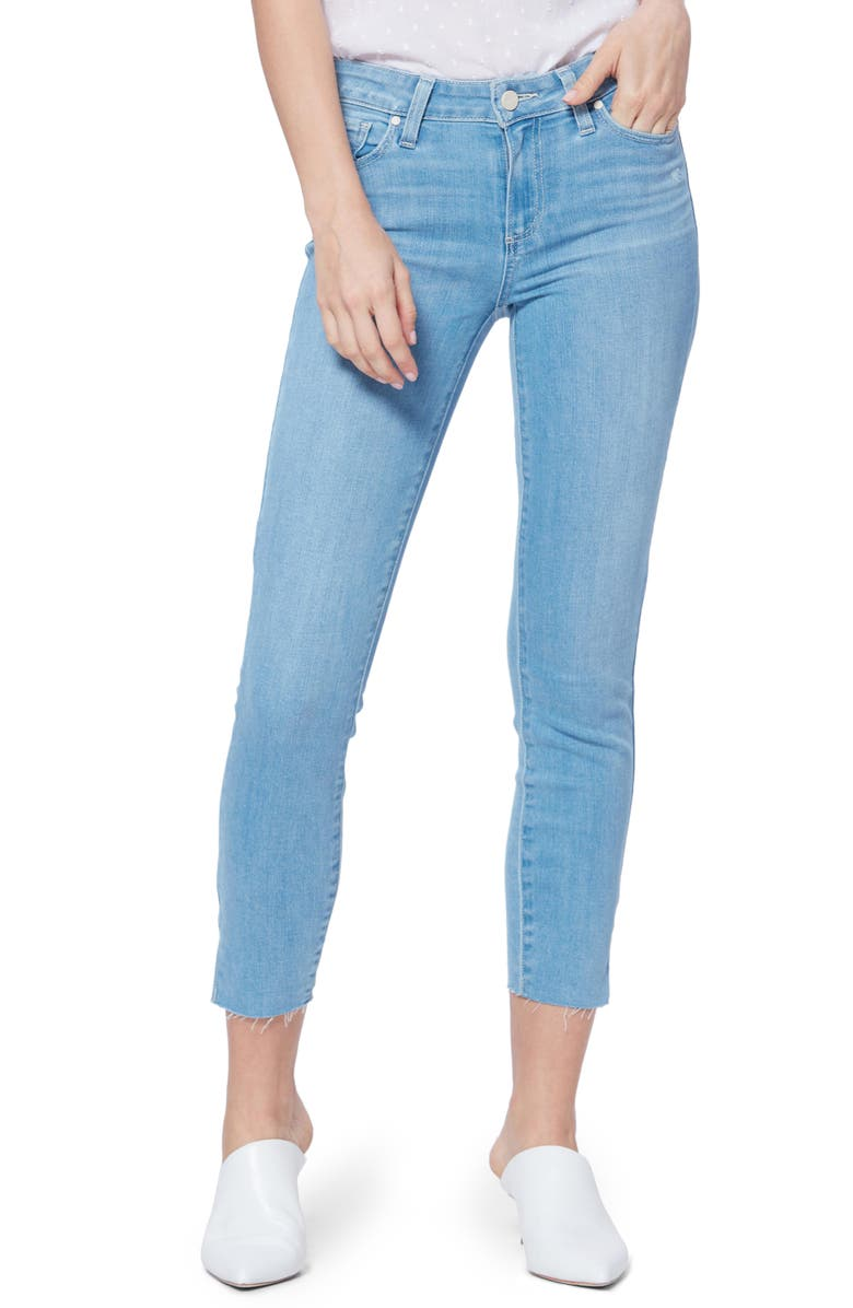 Verdugo Side Slit Crop Skinny Jeans by Paige
