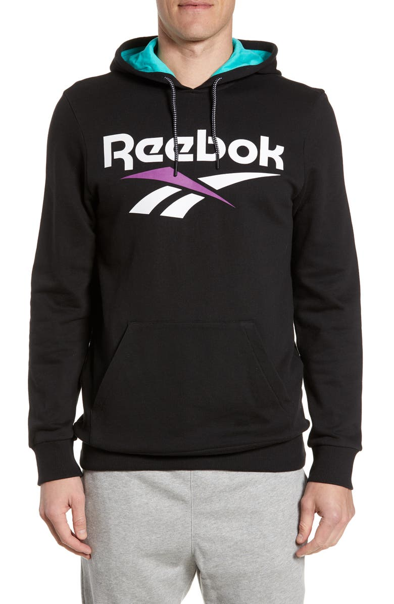 REEBOK Classic Vector Graphic Hoodie, Main, color, BLACK