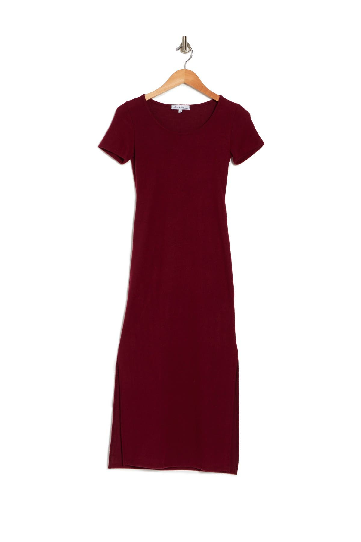 Image of Velvet Torch Cap Sleeve Midi Dress