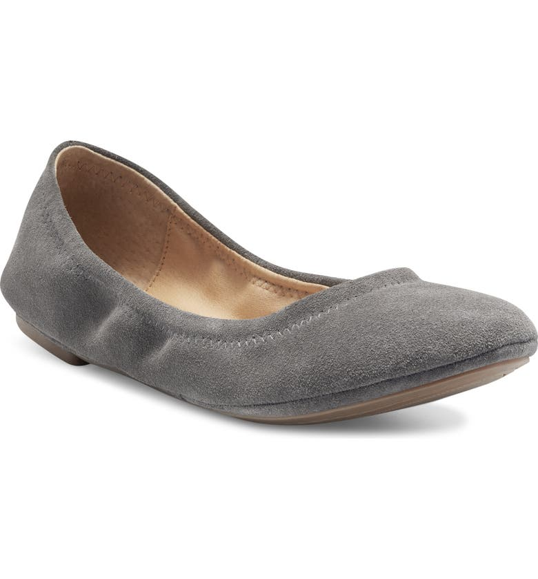 LUCKY BRAND 'Emmie' Flat, Main, color, GUNMETAL SUEDE